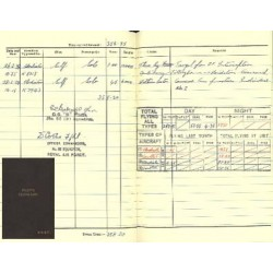 WING COMMANDER ROBERT STANFORD TUCK FLYING LOG BOOK